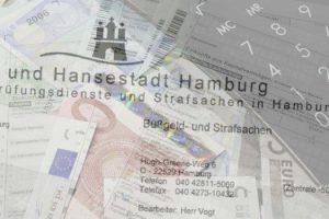 Schreiben von Strafsachen- und Bussgeldstelle des Finanzamtes für Prüfungsdienste und Strafsachen in Hamburg
