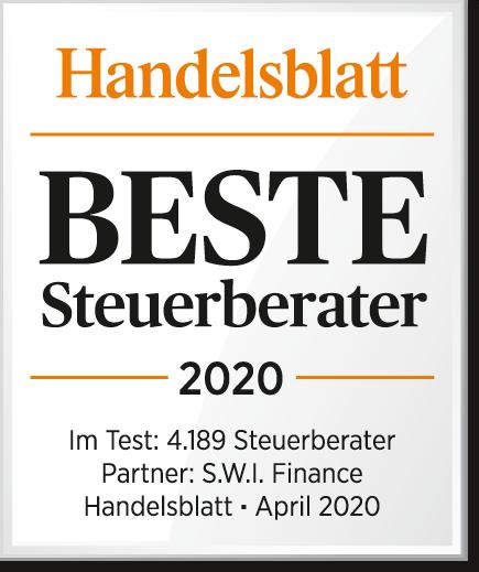 Nils Obenhaus wurde zu einem der besten Steuerberater 2019 durch das Handelsblatt gewählt